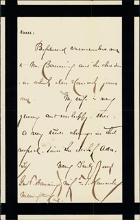 MAJOR GENERAL WINFIELD SCOTT HANCOCK - AUTOGRAPH LETTER SIGNED