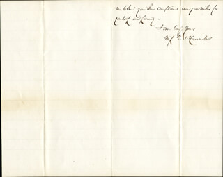 MAJOR GENERAL WINFIELD SCOTT HANCOCK - AUTOGRAPH LETTER SIGNED 01/19/1870