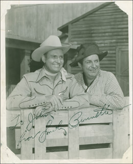 SMILEY (LESTER) BURNETTE - AUTOGRAPHED INSCRIBED PHOTOGRAPH  - HFSID 303459