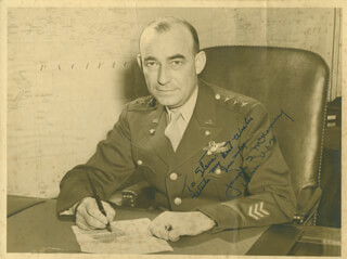 GENERAL JOSEPH T. McNARNEY - AUTOGRAPHED INSCRIBED PHOTOGRAPH