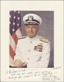 ADMIRAL DONALD C. DAVIS - INSCRIBED PHOTOGRAPH MOUNT SIGNED 01/24/1979