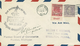 LT. COLONEL EDWIN LESTER PRESTON - COMMEMORATIVE ENVELOPE SIGNED CIRCA 1929