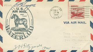 O. K. SWOPE - COMMEMORATIVE ENVELOPE SIGNED CO-SIGNED BY: JOHN H. FITZGERALD