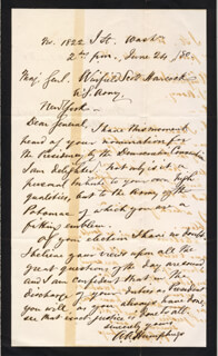 MAJOR GENERAL ANDREW A. HUMPHREYS - AUTOGRAPH LETTER SIGNED 06/24/1880