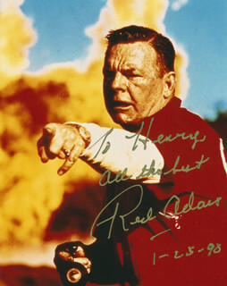 Autographs: RED ADAIR - INSCRIBED PHOTOGRAPH SIGNED 01/25/1990