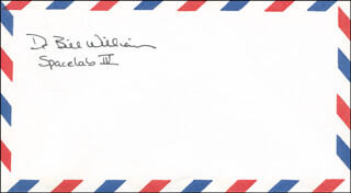 BILL A. WILLIAMS - ENVELOPE SIGNED
