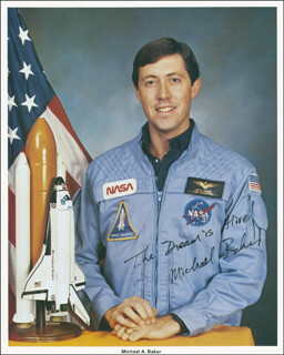 CAPTAIN MIKE BAKER - AUTOGRAPHED SIGNED PHOTOGRAPH