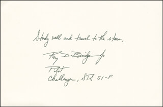 MAJOR GENERAL ROY D. BRIDGES JR. - AUTOGRAPH QUOTATION SIGNED