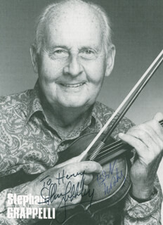 STEPHANE GRAPPELLI - AUTOGRAPHED INSCRIBED PHOTOGRAPH