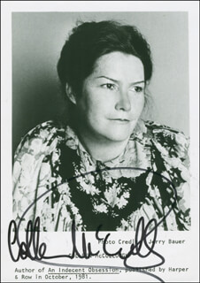 COLLEEN MCCULLOUGH - AUTOGRAPHED SIGNED PHOTOGRAPH
