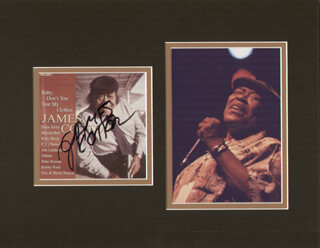 JAMES COTTON - COMPACT DISC CASE SIGNED