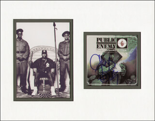 Autographs: PUBLIC ENEMY (CHUCK D.) - COMPACT DISC CASE SIGNED