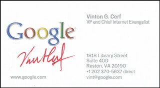 Autographs: VINTON G. CERF - BUSINESS CARD SIGNED