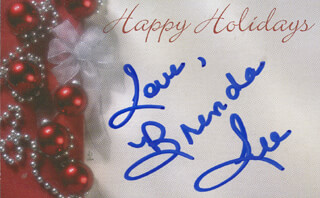 BRENDA LEE - CHRISTMAS / HOLIDAY CARD SIGNED