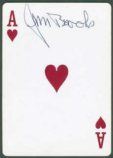 Autographs: MAJOR JAMES L. JIM BROOKS - PLAYING CARD SIGNED