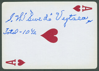 Autographs: CAPTAIN STANLEY W. SWEDE VEJTASA - PLAYING CARD SIGNED