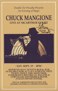 CHUCK MANGIONE - ADVERTISEMENT SIGNED