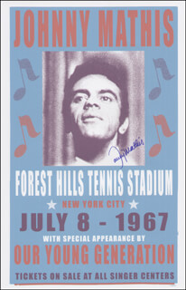 JOHNNY MATHIS - ADVERTISEMENT SIGNED