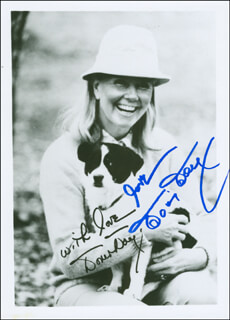 DORIS DAY - PRINTED PHOTOGRAPH SIGNED IN INK