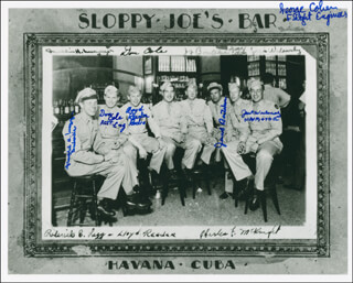 DONALD COLE - AUTOGRAPHED SIGNED PHOTOGRAPH CO-SIGNED BY: LLOYD REEDER, JACOB BONTEKOE, GEORGE COHEN, JACK WIDOWSKY, FRANKLIN H. MacGREGOR