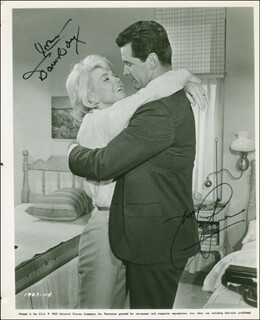 THE THRILL OF IT ALL MOVIE CAST - PRINTED PHOTOGRAPH SIGNED IN INK CO-SIGNED BY: JAMES GARNER, DORIS DAY