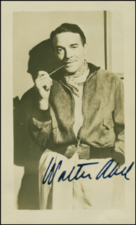 Autographs: WALTER ABEL - PHOTOGRAPH SIGNED