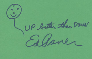 ED ASNER - AUTOGRAPH QUOTATION SIGNED