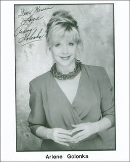 ARLENE GOLONKA - AUTOGRAPHED INSCRIBED PHOTOGRAPH