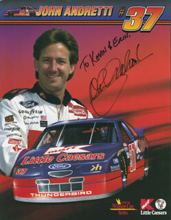 JOHN ANDRETTI - INSCRIBED ADVERTISEMENT SIGNED