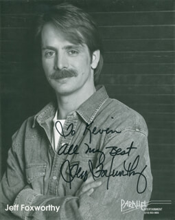 JEFF FOXWORTHY - AUTOGRAPHED INSCRIBED PHOTOGRAPH