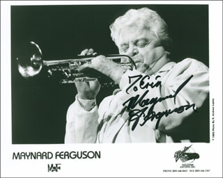 MAYNARD FERGUSON - AUTOGRAPHED INSCRIBED PHOTOGRAPH