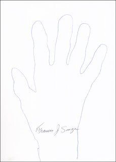 Autographs: FRANCIS J. SANZA - HAND/FOOT PRINT OR SKETCH SIGNED