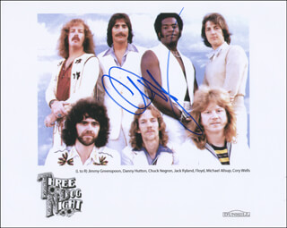 THREE DOG NIGHT (CHUCK NEGRON) - AUTOGRAPHED SIGNED PHOTOGRAPH