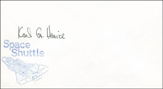 KARL G. HENIZE - ENVELOPE SIGNED