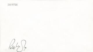 COMMANDER PETER LONGHURST - ENVELOPE SIGNED