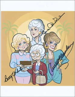 GOLDEN GIRLS TV CAST - AUTOGRAPHED SIGNED PHOTOGRAPH CO-SIGNED BY: BEATRICE BEA ARTHUR, RUE McCLANAHAN, BETTY WHITE