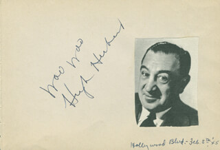 HUGH HERBERT - AUTOGRAPH QUOTATION SIGNED CIRCA 1945