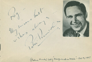 PATRIC KNOWLES - AUTOGRAPH NOTE SIGNED