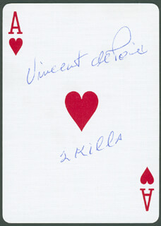 Autographs: VICE ADMIRAL VINCENT DE POIX - PLAYING CARD SIGNED