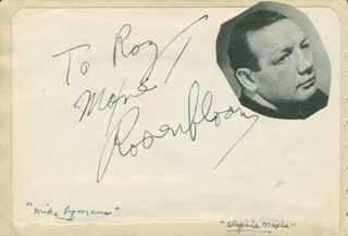 MAXIE SLAPSIE MAXIE ROSENBLOOM - INSCRIBED SIGNATURE CO-SIGNED BY: BERT GORDON