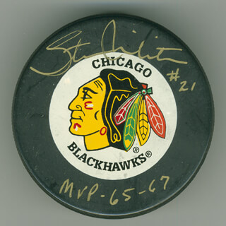 STAN MIKITA - HOCKEY PUCK SIGNED