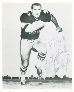 JIM TAYLOR - AUTOGRAPHED INSCRIBED PHOTOGRAPH