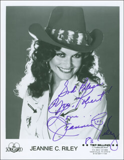 JEANNIE C. RILEY - AUTOGRAPHED INSCRIBED PHOTOGRAPH 1983