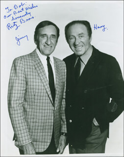 THE RITZ BROTHERS - AUTOGRAPHED INSCRIBED PHOTOGRAPH CO-SIGNED BY: THE RITZ BROTHERS (JIMMY RITZ), THE RITZ BROTHERS (HARRY RITZ)