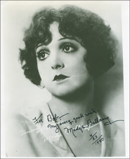 MADGE BELLAMY - AUTOGRAPHED INSCRIBED PHOTOGRAPH 04/23/1980