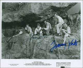 SWISS FAMILY ROBINSON MOVIE CAST - AUTOGRAPHED SIGNED PHOTOGRAPH CO-SIGNED BY: DOROTHY McGUIRE, TOMMY KIRK