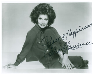 CAROL LAWRENCE - AUTOGRAPHED SIGNED PHOTOGRAPH