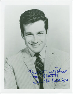 JACK LARSON - AUTOGRAPHED INSCRIBED PHOTOGRAPH