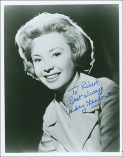 AUDREY MEADOWS - AUTOGRAPHED INSCRIBED PHOTOGRAPH