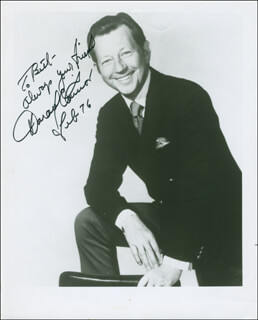 DONALD O'CONNOR - AUTOGRAPHED INSCRIBED PHOTOGRAPH 02/1976